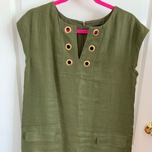 J crew shift dress with grommets